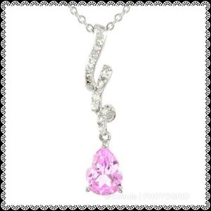 LORENZO Pink & White Sapphires Pendant with Chain